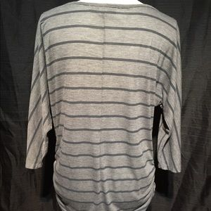 French Laundry Tops - French Laundry 3/4 sleeves, black/grey  shirt